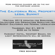 The California Real Property Legal Summit May 21 2015